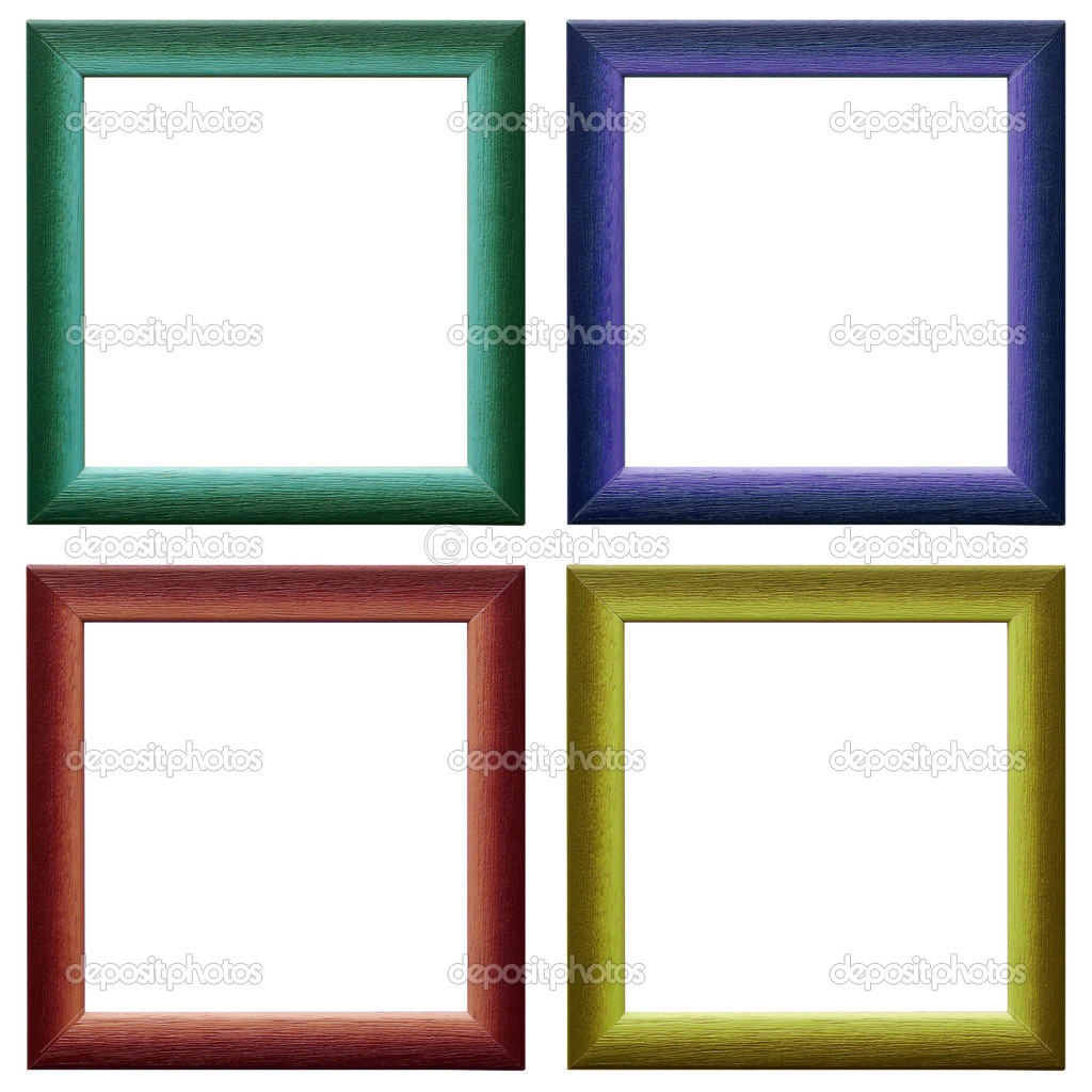 four contemporary picture frames stock photo 32750455