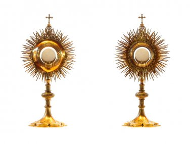 Liturgical vessel gold monstrance