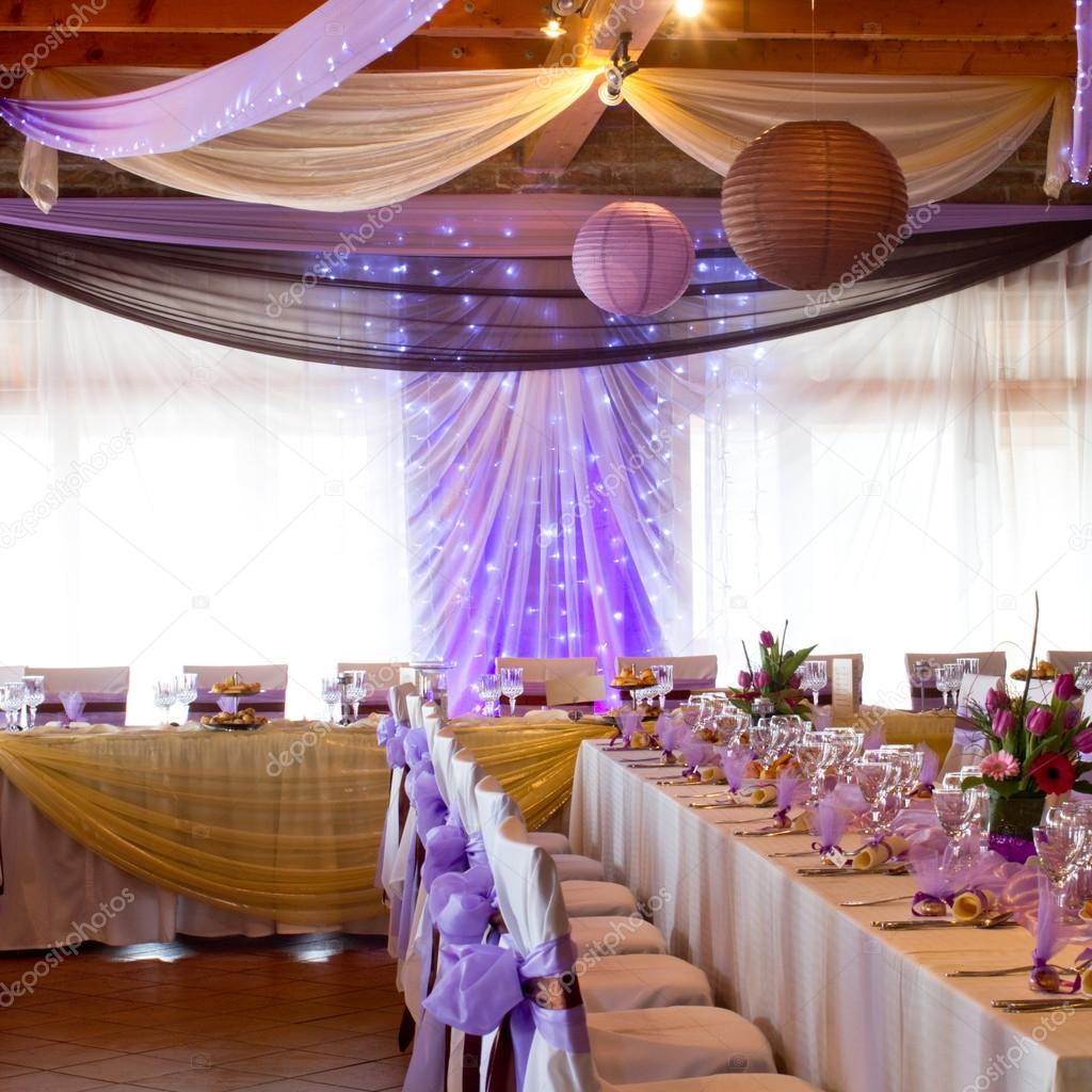 Wedding place with decorations