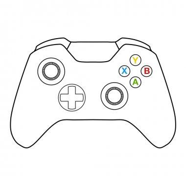 Console controller illustratuion stock vector