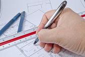 architekt stavební plán