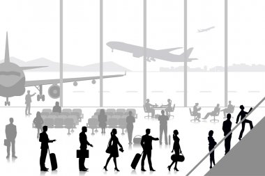 People in Airport Lounge
