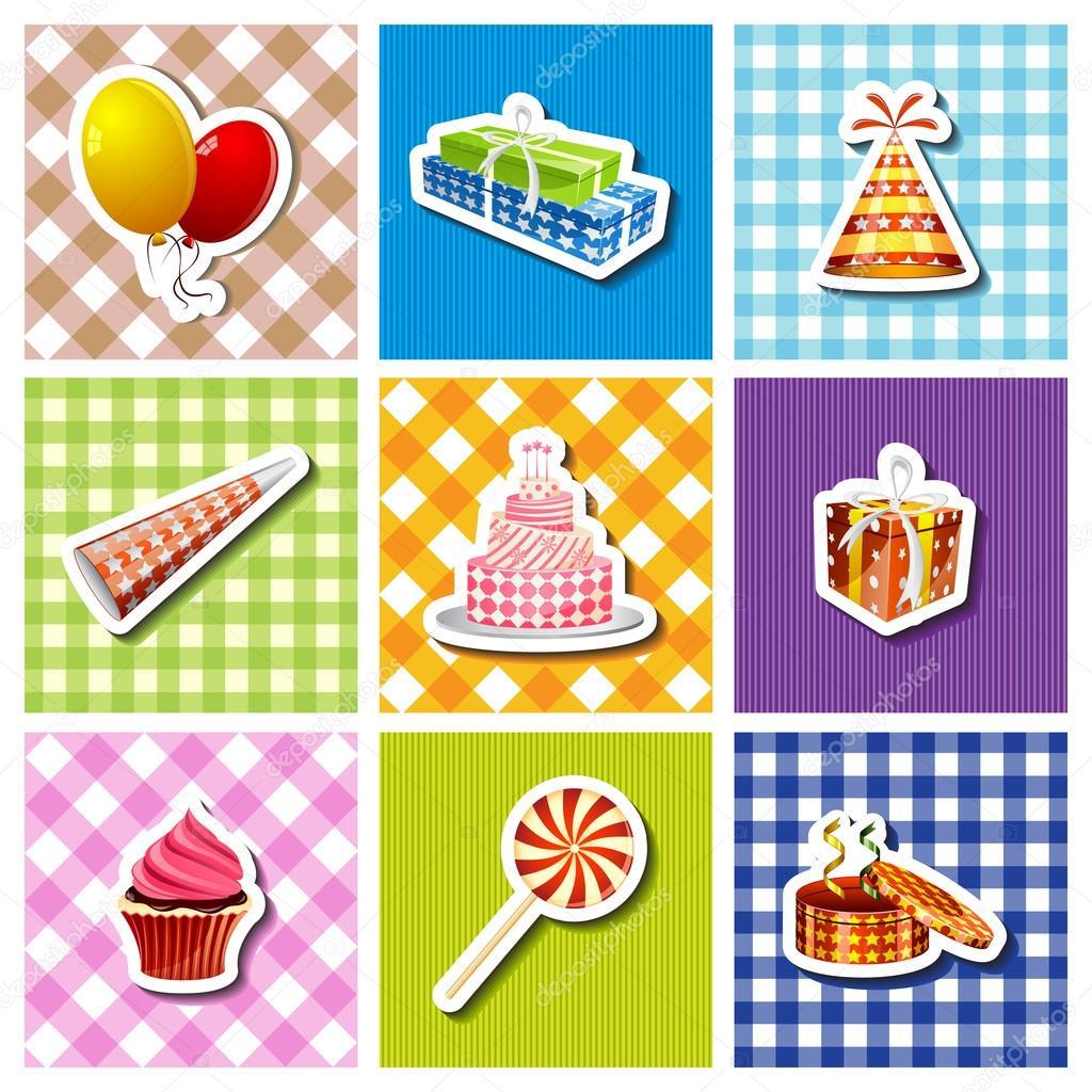 Kleurrijke Verjaardag Achtergrond Stockvector C Snapgalleria 36345375