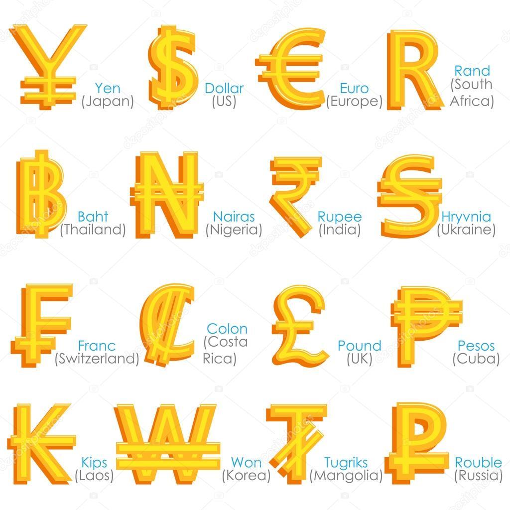 World Currency Symbol Stock Vector Snapgalleria 39184799