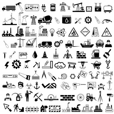 Easy to edit vector illustration of industrial icon stock vector