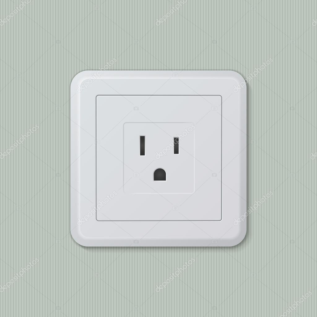 American electric socket 05 — Stock Vector © sgtdsign #49162395