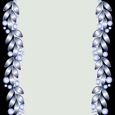 Background with silver leaves
