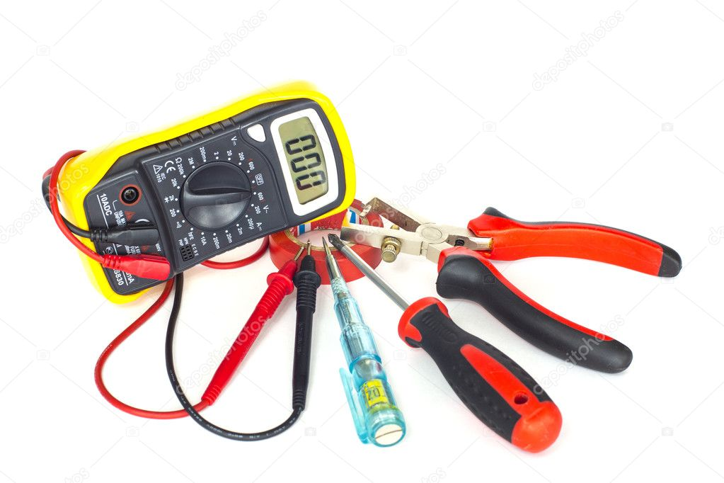 Electrician Tools On White Background Photo By Axpitel