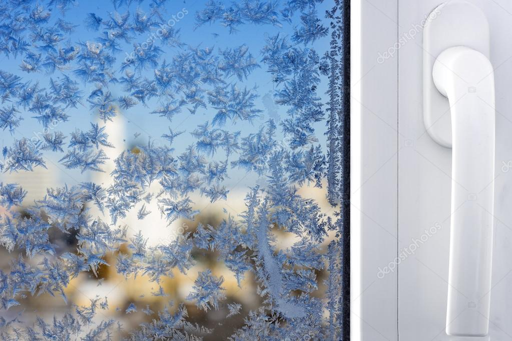 Winter patterns on window