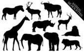 siluety zvířat vektor