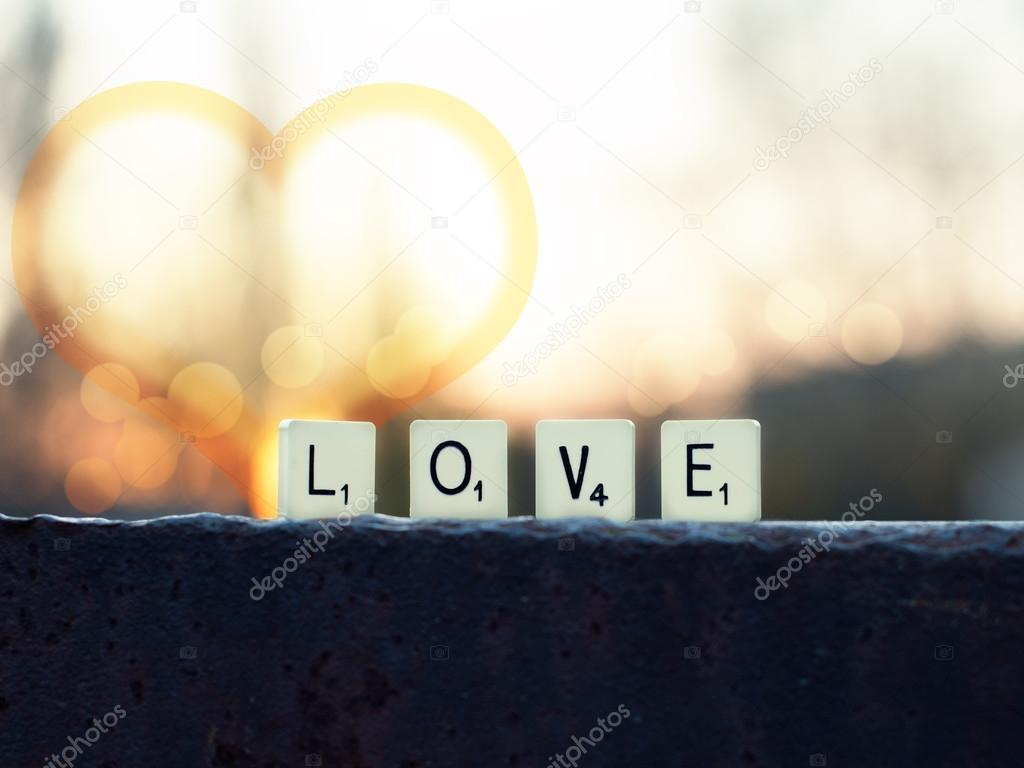 word love at sunset