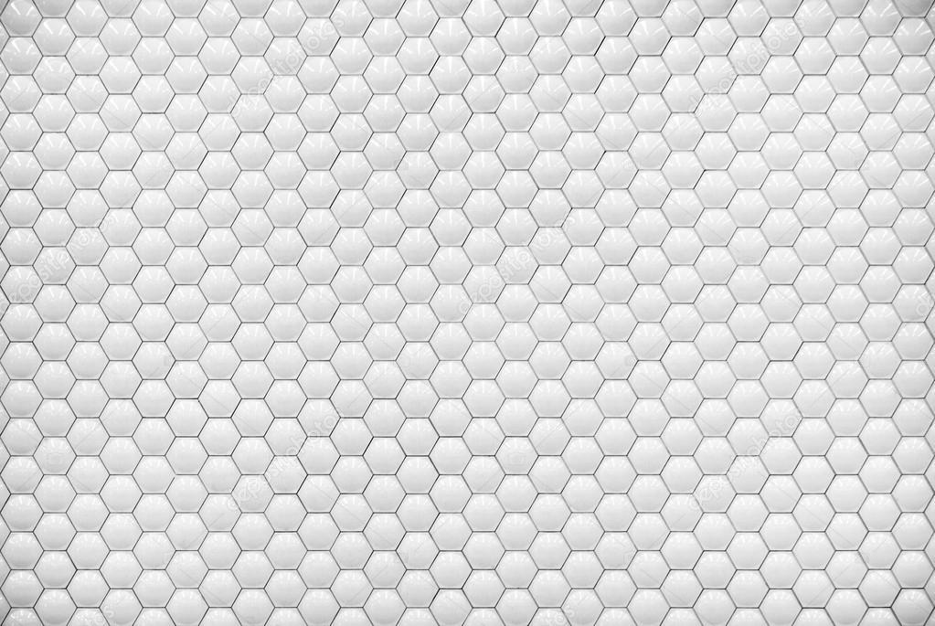 Blanc brillant hexagone bulle texture carrelage fond — Photographie keneaster © #32432011