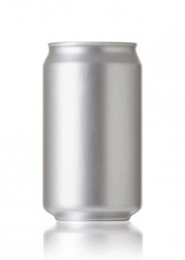 Blank soda or beer can, Realistic photo image
