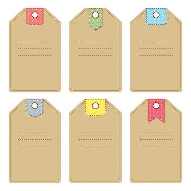 Set of carton tags
