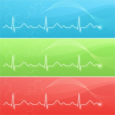 Medical background with cardiogram line