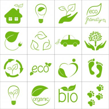 Eco friendly icons set