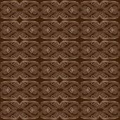 Barna absztrakt Seamless Pattern