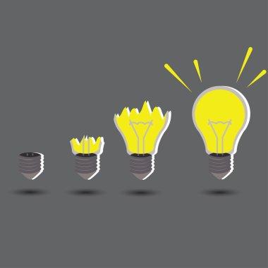 Light idea concept with create idea