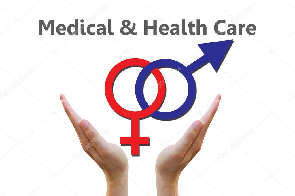 Male And Female Symbols Combination For Medical And Healthcare