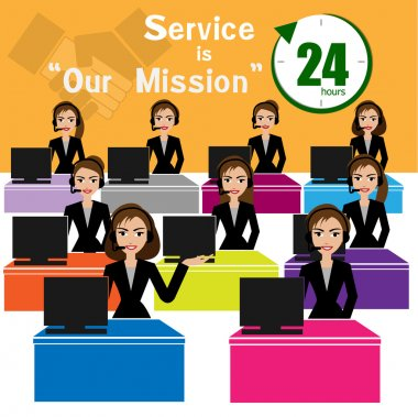 Call center, best service for business concept