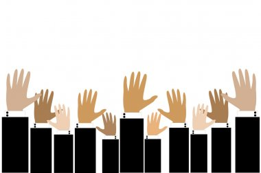Business hand raise up for opportunity concept
