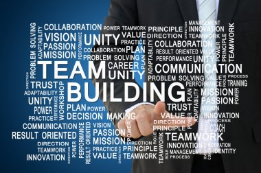 Teamwork and team building concept