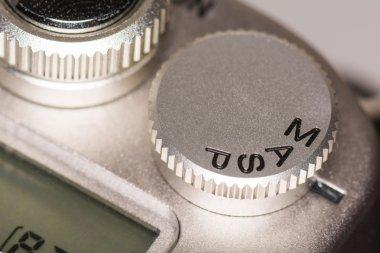 Mode dial on SLR camera