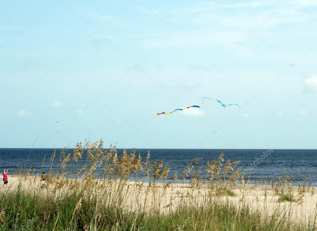 Kite Flying at Oak Island, NC