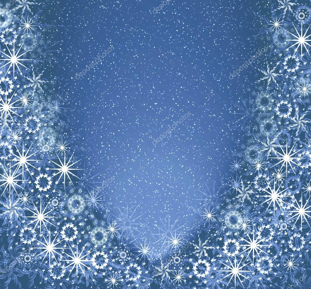 Christmas blue magic frame — Stock Photo © elenstudio #32789337