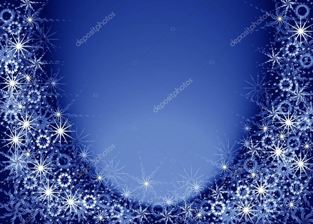 Christmas blue magic frame — Stock Photo © elenstudio #32790421