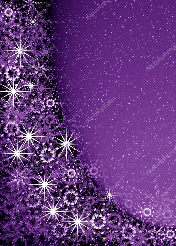 marco mágica Navidad violeta — Foto de stock © elenstudio #32790789