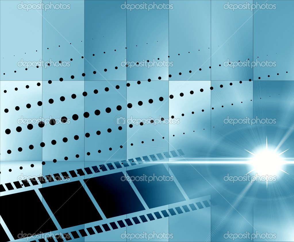Fondo Azul Metálico Abstracto De Diseño Moderno De La: Fondo Abstracto Azul Con La Película