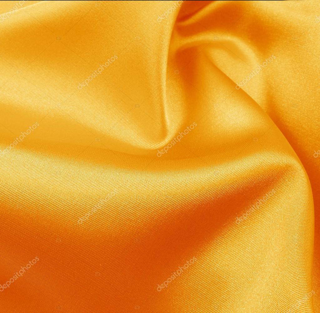 zijde oranje gordijnen — Stockfoto © elenstudio #35108017