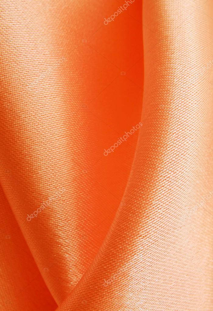 zijde oranje gordijnen — Stockfoto © elenstudio #35108031