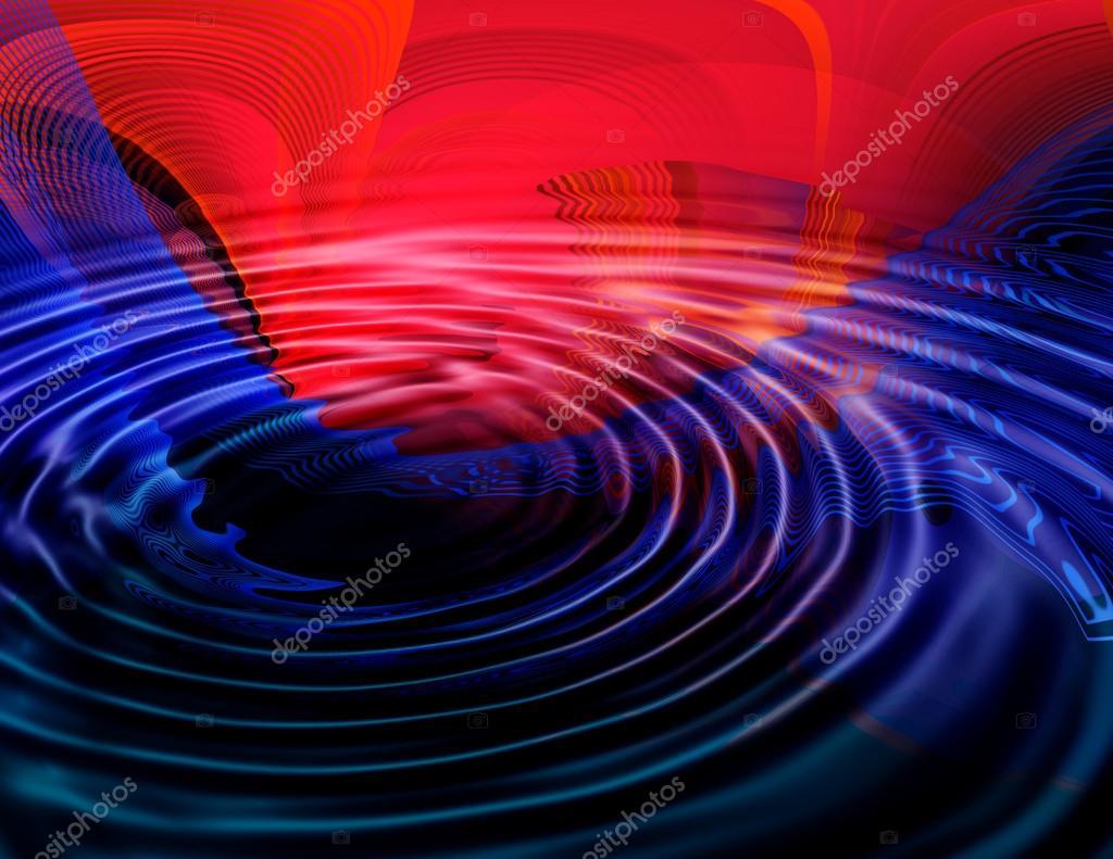 Abstracto Fondo Rojo Y Azul Oscuro Para Tarjeta