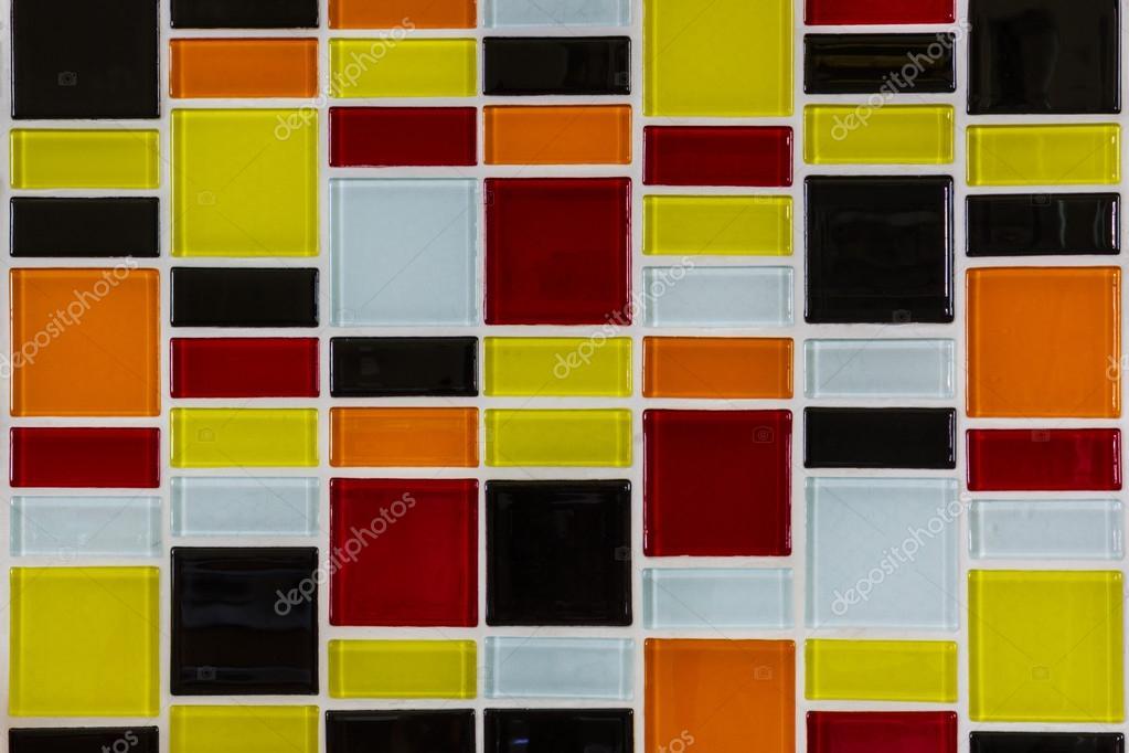 Mozaika Szklana W Kuchni Zdjęcie Stockowe Amnachphoto