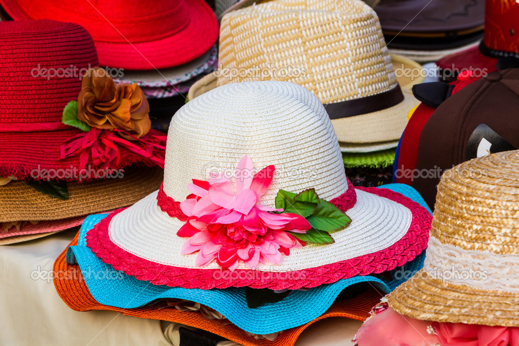 3dab33b47 colorido de chapéu tecido vintage — Stock Photo © amnachphoto  45004639