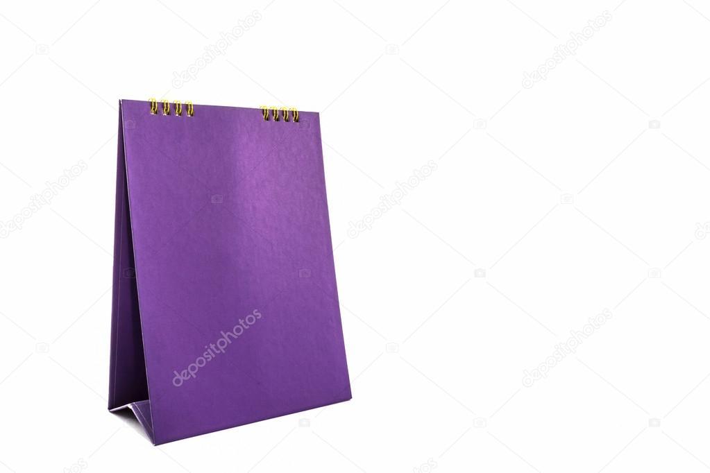 Set Da Scrivania Viola : Calendario da tavolo viola carta bianca a spirale u2014 foto stock