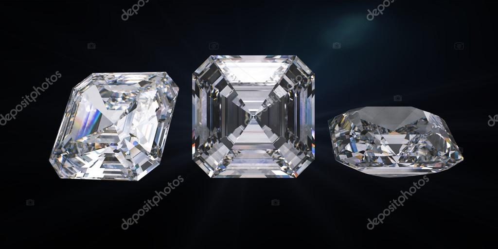 diamond group photo cut depositphotos path stock of with clipping royal asscher