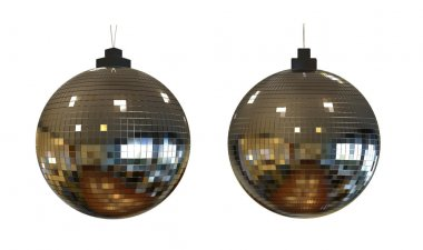 Disco ball isolated 3d