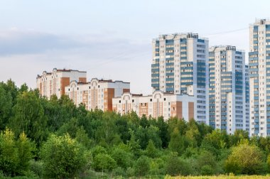 New apartment buildings
