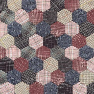 Patchwork Quilt Hexagon pattern