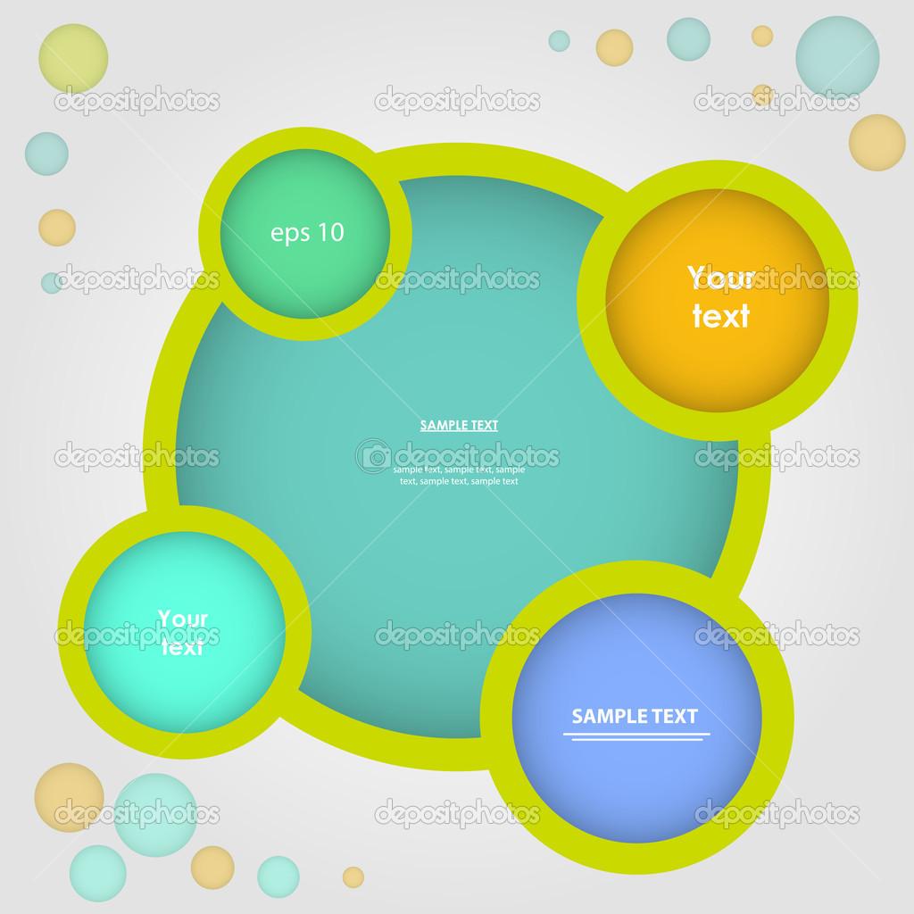 sitio web infografía, diseño de marco de vector — Archivo Imágenes ...