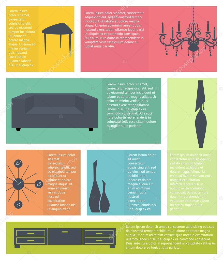 Infografia dise o de interiores infograf a de los iconos for Diseno de interiores para hogares