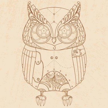 Steam punk owl.