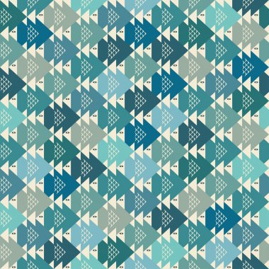 Seamless fish abstract pattern background