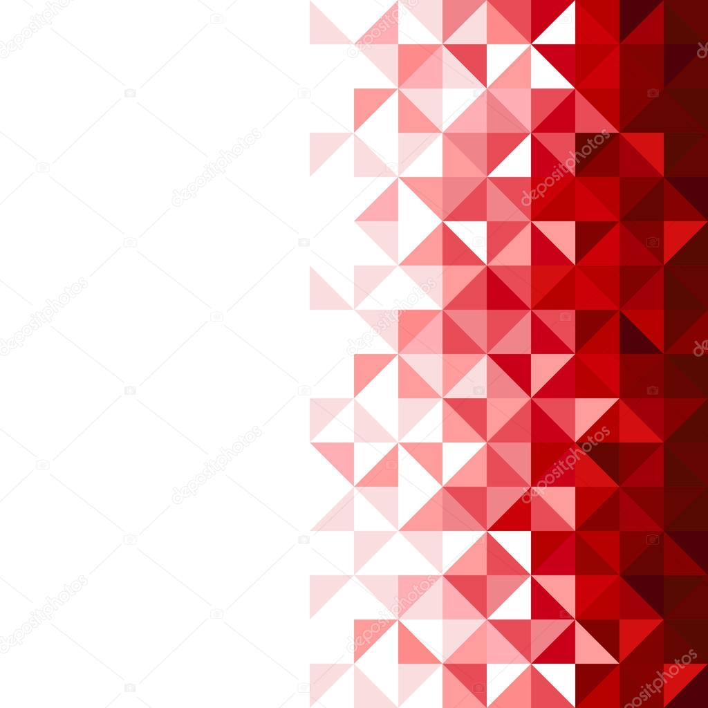 Abstract Geometric Background Triangle And Square Red