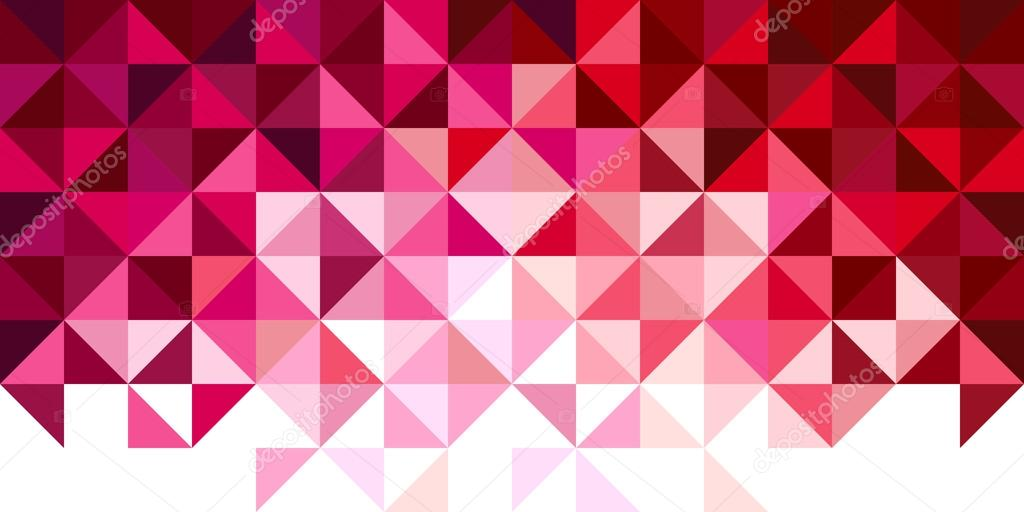 Abstract, geometric background, triangle and square, red