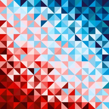 Abstract geometric background, red and blue