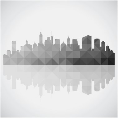 Abstract panorama city background